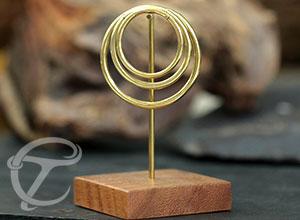 brass fake piercing