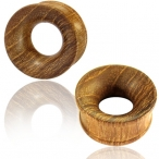 concave teak wood tunnel