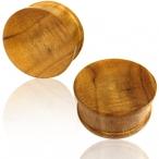 concave teak wood plug