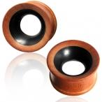 Concave sawo/arang wood plug
