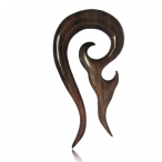 brown sono wood ear tattoo