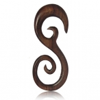 Narra wood spiral hook