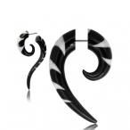Fake piercing, inlayed horn hook