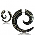 Fake piercing ,horn spiral