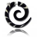 Fake piercing, inlayed spiral