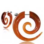 Red buffalo horn, spiral