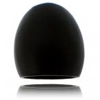 Black big oval wood ring