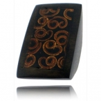 Wood ring with cinimom inlay