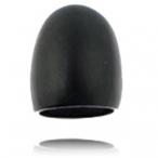 Plain black colored bone ring