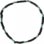 Beaded necklace, elastic string