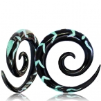 turquise inlay spiral
