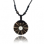 shiva eye shell pendant with weaved wax string