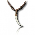 Bone teeth necklace