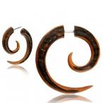 Palm/teak wood spiral