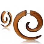 Teak/narra wood fake spiral