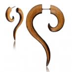 Teak/narra wood fake thai spiral