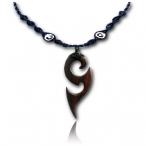 Black narra wood pendant necklace
