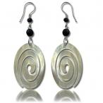 Shell oval spiral earring