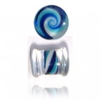 blue swirl pyrex plug