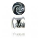 black/white swirl pyrex plug