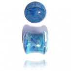 exotic blue pyrex plugs