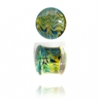 exotic green glass pyrex plugs