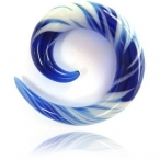 blue and white spiral