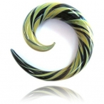 black and mint spiral