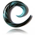 aqua and black spiral