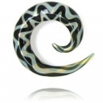 exotic clear and black spiral