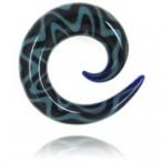 aqua/blue spiral
