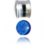 blue dichro pyrex glass plug