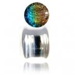 rainbow dichro pyrex glass plug