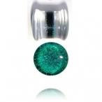 emerald dichro pyrex glass plug