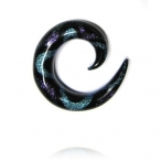 purple/aqua dichro spiral