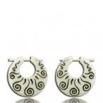 inlayed bone earring