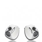 Inlayed bone earrings