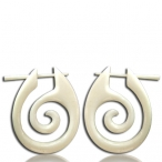 Carved spiral earring