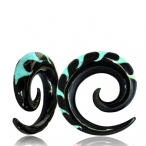 turquoise inlayed wave spiral