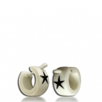 bone earring with star inlay