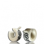 Spiral inlayed earring