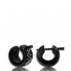 Bone inlayed horn earring