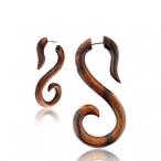 wooden swan spiral