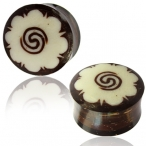 Inlay-ed coco-nut plug