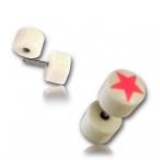 Bone plug / star inlay
