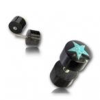 Horn plug/turquoise inlay
