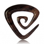 Narra wood triangle spiral