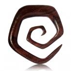 Narra wood hexagon spiral