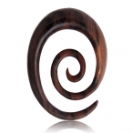 Narra wood oval spiral