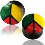 colored bone inlayed rasta plug